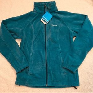 Columbia Teal Fleece Zip Up Jacket